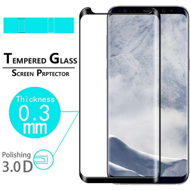 Premium Full Cover 3D Curved Edge Glass film For Samsung Galaxy S8 plus SM-G955F Screen protector film tempered glass film