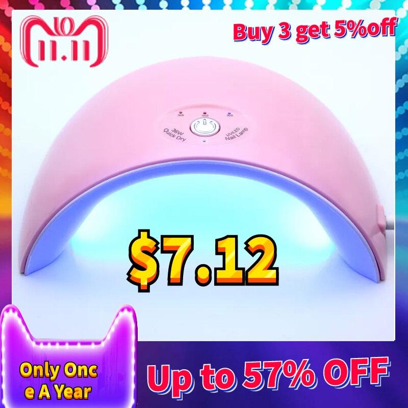 La última lámpara UV de 36 w Led 12 pzas piezas. Secador de uñas LED para todas las uñas esmalte de uñas manicura con Sensor de botón temporizador herramientas de arte de uñas