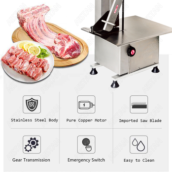 HL1650 electric commercial bone saw bone cutter frozen meat slicer machine with blades 2