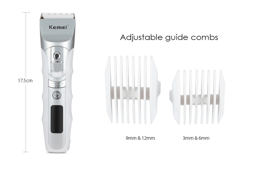 Kemei KM - 838 Rechargeable Hair Clipper Trimmer LCD Display hair clipper electric hair trimmer hair shaving machine for barber