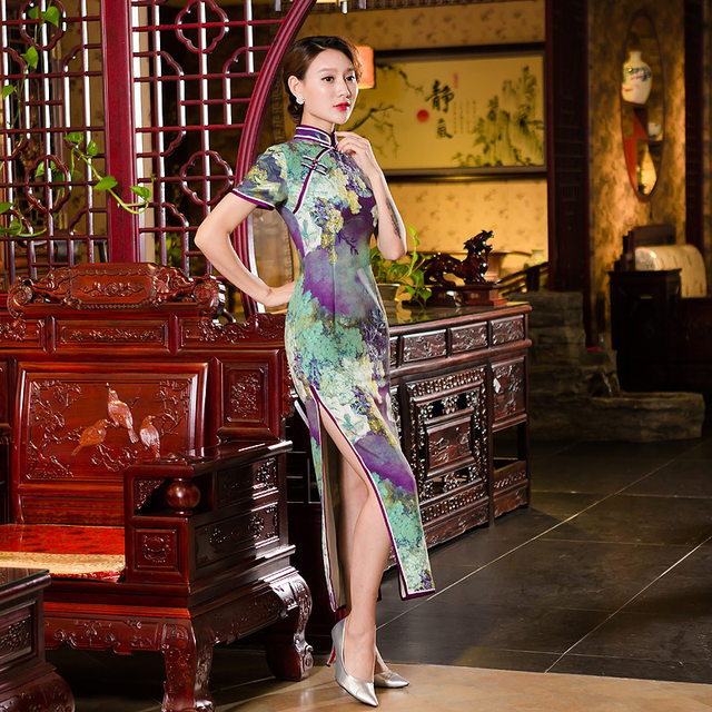 online shop free shipping 2018 chinese dresses long chinese