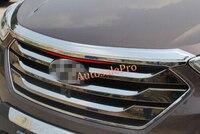 ABS 크롬 프론트 후드 그릴 그릴 어퍼 스 트리머 커버 트림 현대 산타페 IX45 2013 2014