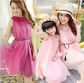 2015 Fashion Matching Mother Daughter Clothes Family Look Dress Summer Style Dresses Parent-child Outfit  Ma e Filha Maxi Dress