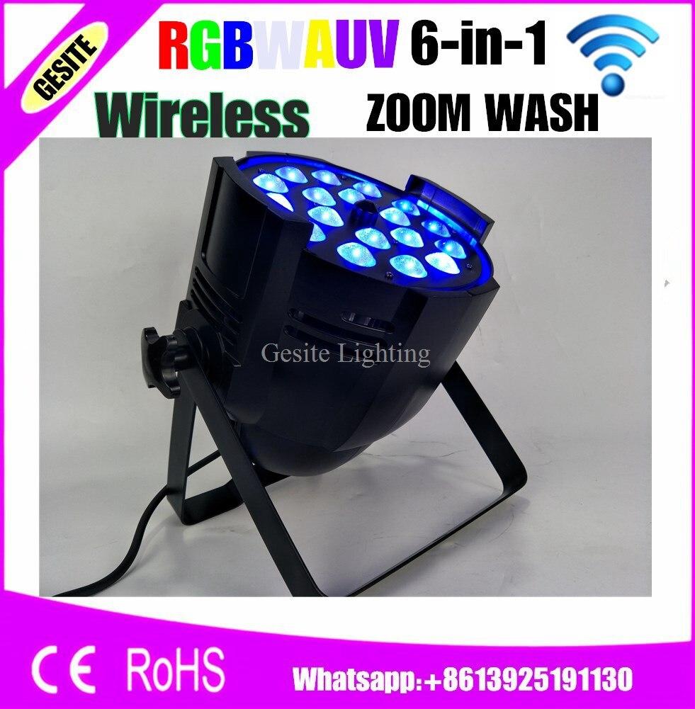 Wireless Control 18x18w LED PAR Lights RGBWAUV 6in1 Zoom Led Dmx Professional Dj Equipment