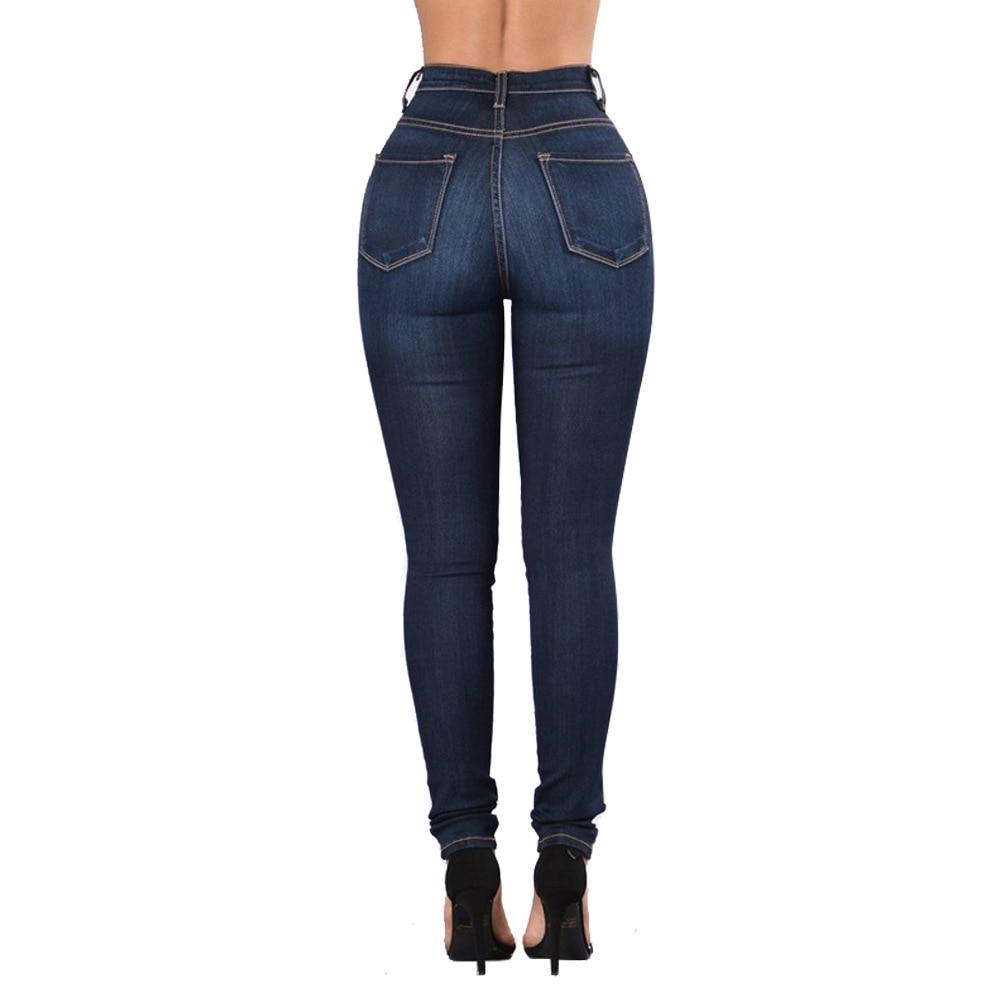 Fashion Women Jeans Denim High Waist Stretch Jeans Women Casual Stretch Slim Sexy Vintage Pencil Pants Plus Size