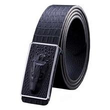 [VANLED]Hot Men's Belt crocodile LOGO Automatic buckle Boby width 3.5CM business leather Designers high quality luxury Women
