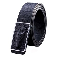 APOLP Hot Men's Belt crocodile LOGO Automatic buckle Boby width 3.5CM business leather Designers high quality luxury Women
