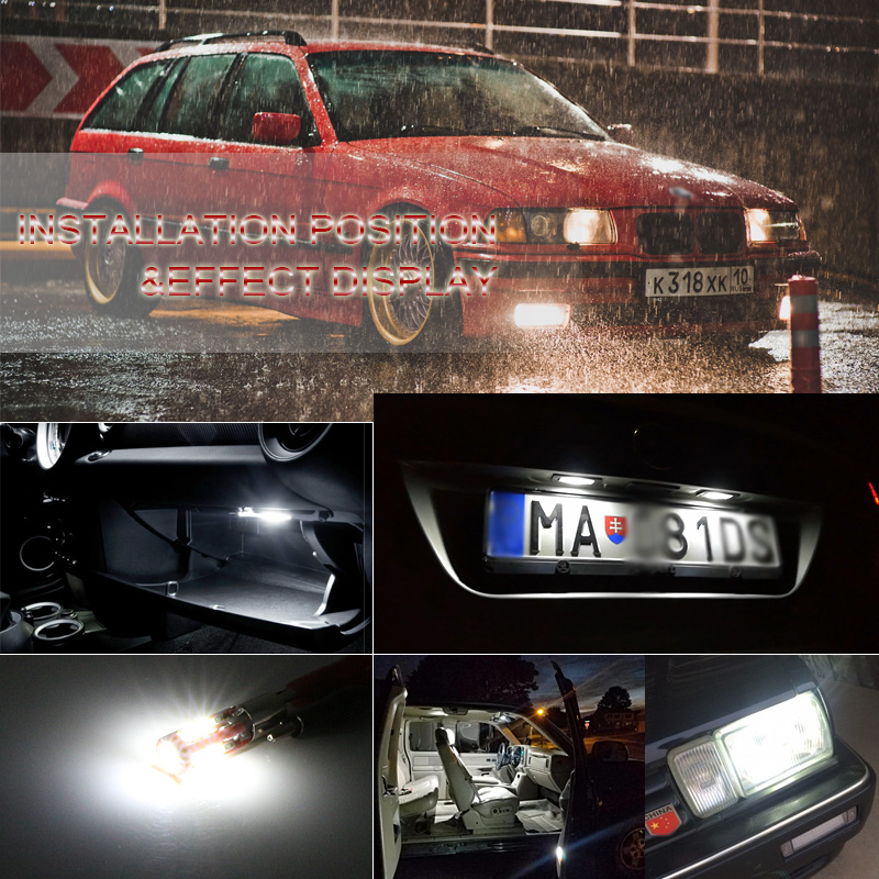 SAARMAT 2x LED BAX9S H6W lampa 6000K Ağ 19SMD Çiplər Canbus Xəta - Avtomobil işıqları - Fotoqrafiya 5