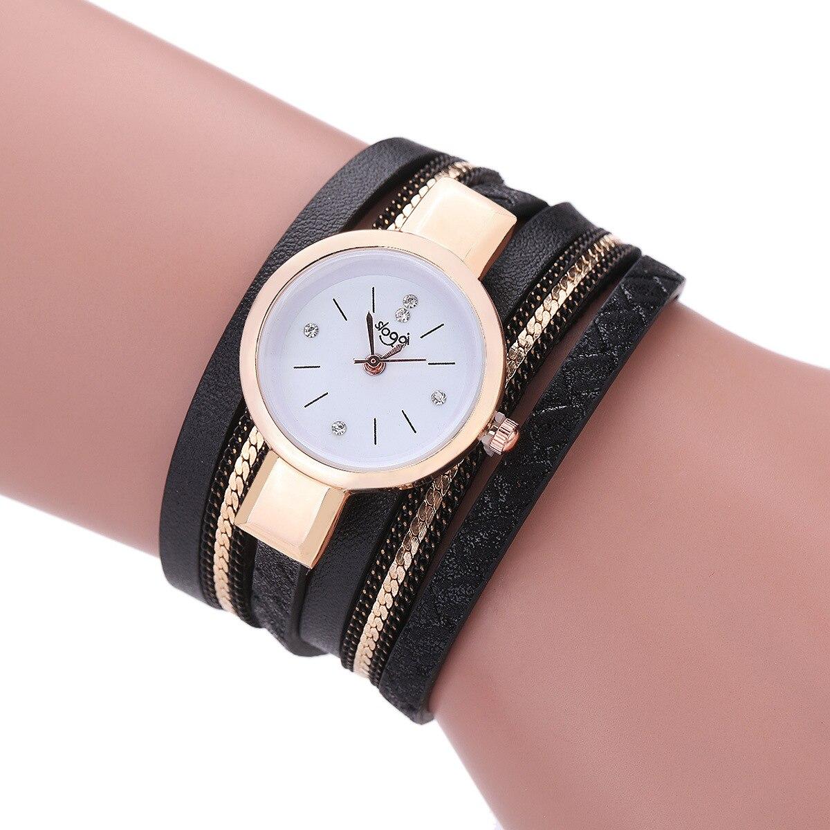 SLOGGI Brand Luxury Watches Women Fashion Gold Bracelet
