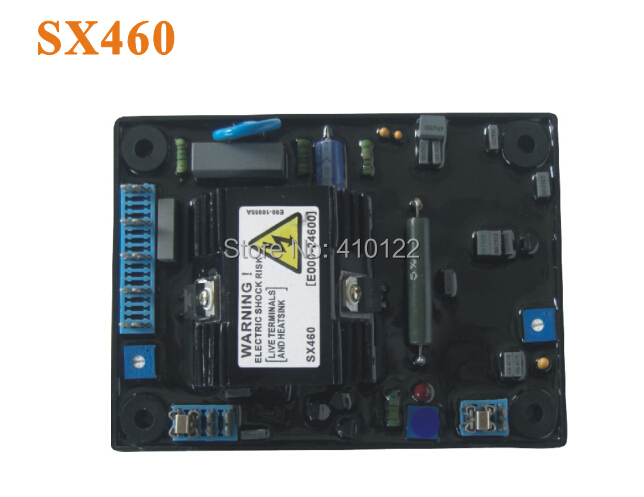 SX460 Automatic Voltage Regulator AVR For Generator Power Tool Parts quality black automatic voltage regulator avr sx460 for generator free shipping