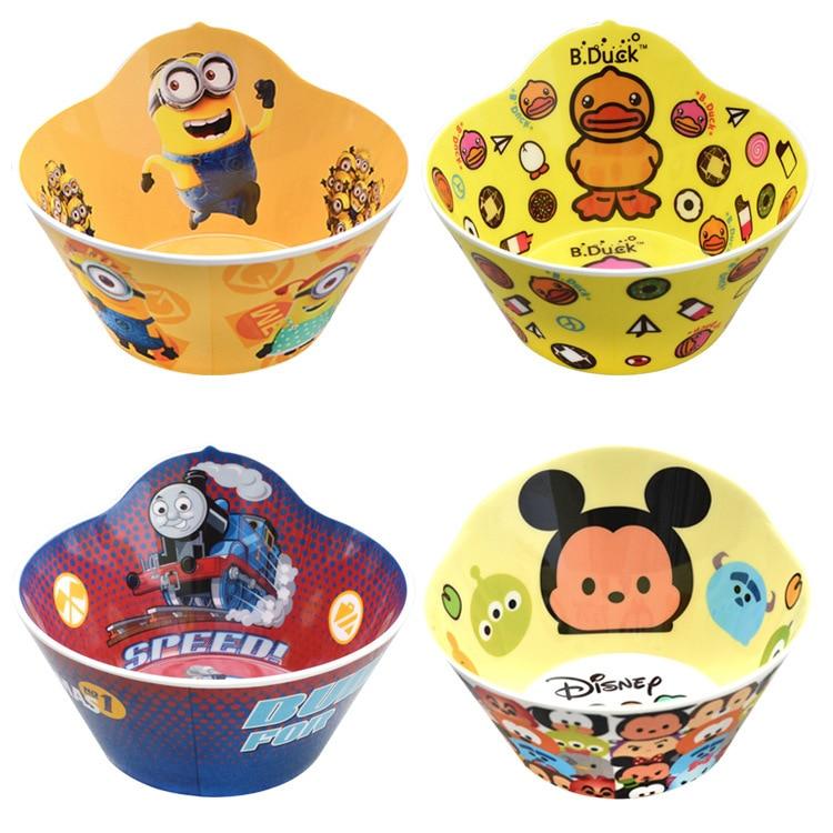 Επιτραπέζια σκεύη παιδιών Cartoon Animal Bowl Γεια σου γατούλα κεφάλι γάτας Polka Dot μπολ μελαμίνη επιτραπέζια σκεύη φοβισμένος να ρίξει μπολ σούπας ρύζι
