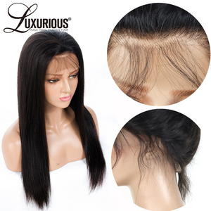 Image 4 - 6inch Deep Parting 13X6 Lace Front Human Hair Wigs For Black Women 8 24inch 150% Density Natural Brazilian Remy Human Hair Wigs