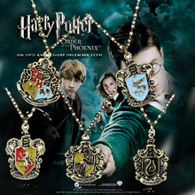 Hogwarts Gryffindor Hufflepuff Free Shipping Slytherin Ravenctaw School badge Hot Sale Crest Necklace & Pendants Pins Jewelry