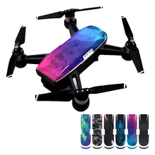 6pcs Waterproof Movable Sticker Decal Skin Protector for font b DJI b font Spark Drone Quadcopter