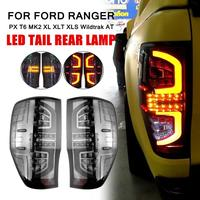 1Pair Rear Tail Lights Lamp Smoked LED for Ford Ranger PX T6 MK2 XL XLT XLS Wildtrak AT Making Installation Breeze Match Factory