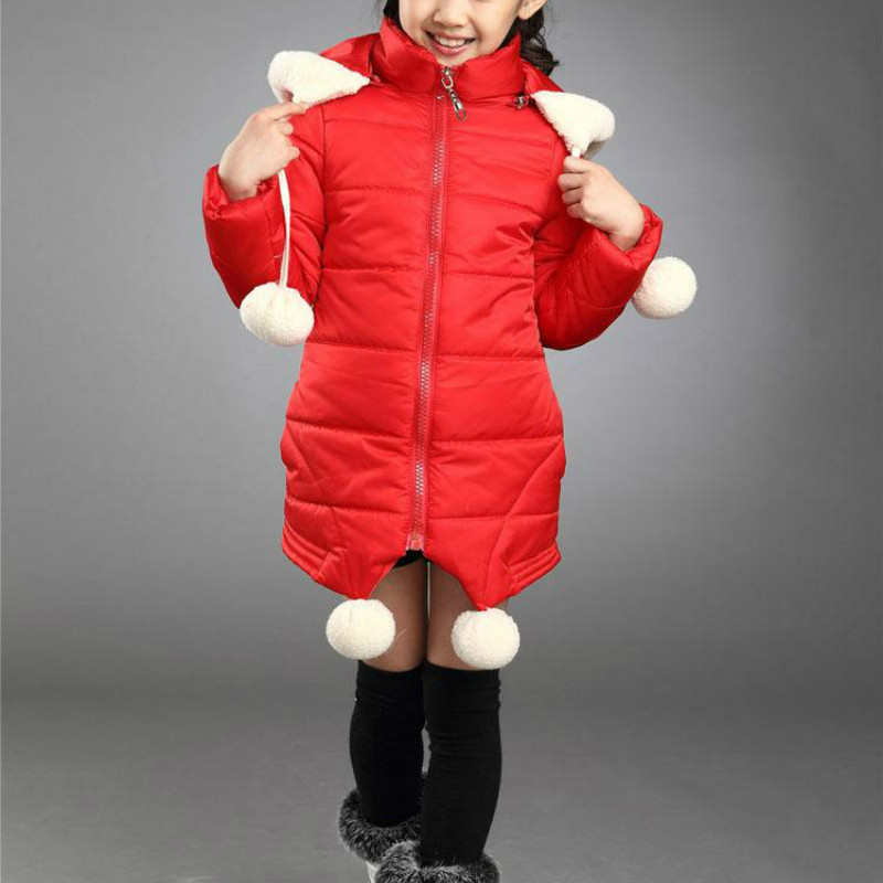 New autumn and winter long children's down jacket girls hooded Korean Slim children's clothing children's down jacket