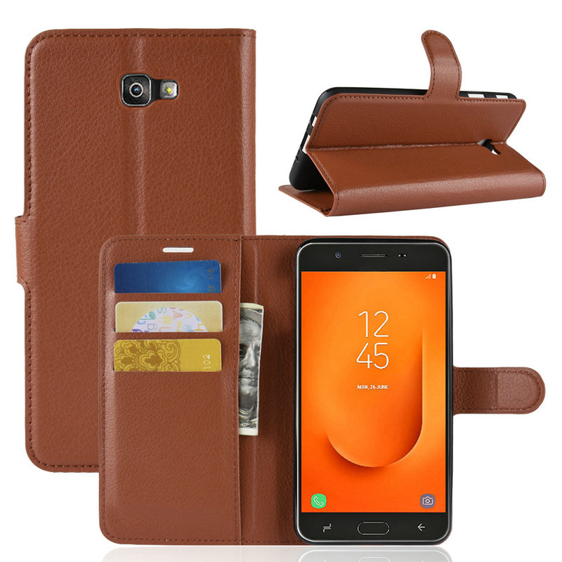 Luxury Flip Leather Case cover for Samsung Galaxy J7 Prime 2 2018 G611 G611FF J7 Prime G610 Phone Cover Wallet case with Stand image