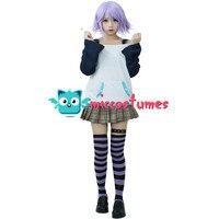 Rosario Vampire Mizore Shirayuki Cosplay Costume Shirt Skirt Woman Halloween Outfit