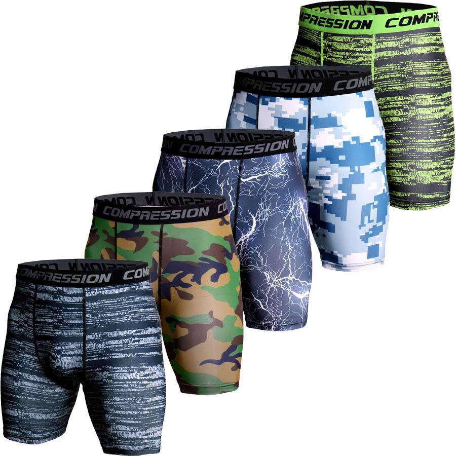 Short de Compression hommes impression 3D Camouflage collants de musculation court hommes gymnases Shorts mâle Muscle vivant élastique Short de course