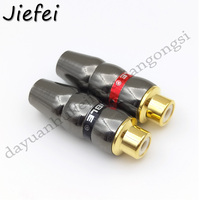 200 500pcs New High Quality RCA Male Plug Gold plated RCA Connector Adapter Support 6mm Cable Audio Connector For TV amplifier