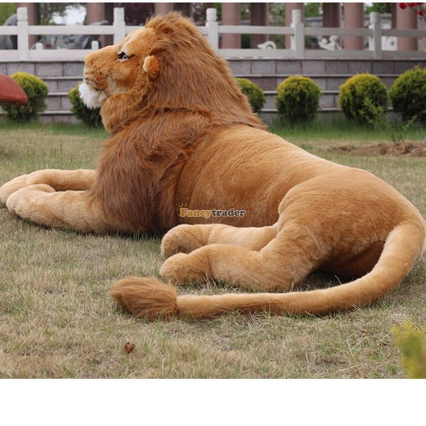 Fancytrader New 2015 87'' / 220cm Large Soft Stuffed Cute Plush Simulated The Lion King Toy, Nice Gift, Free Shipping FT50623 fancytrader 2015 new 31 80cm giant stuffed plush lavender purple hippo toy nice gift for kids free shipping ft50367
