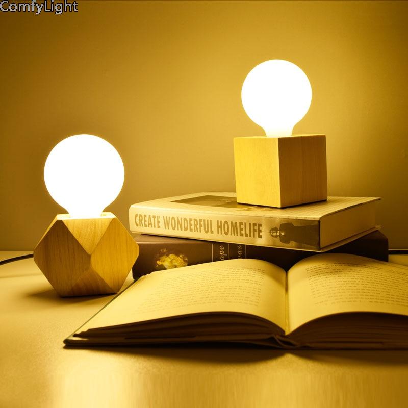 Bedroom LED Desk Lamp Artistic Home Living Room Bedside Home Decor Creative Night Light Kid's Gift mirror lamp E27 warm light