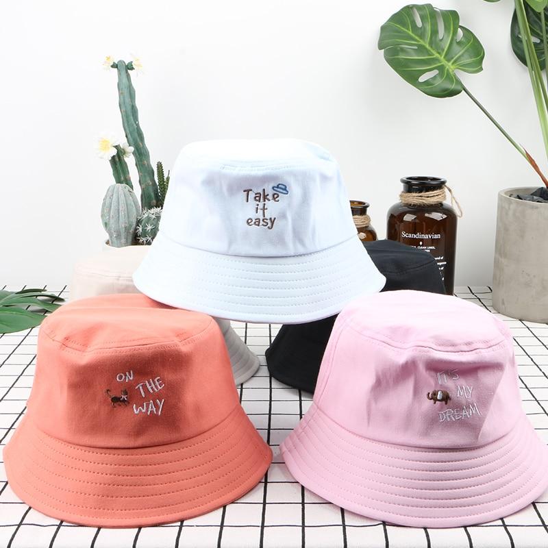 Bucket Hat Unisex Modna plaža Caps Hip Hop Gorros Moški Poletne - Oblačilni dodatki