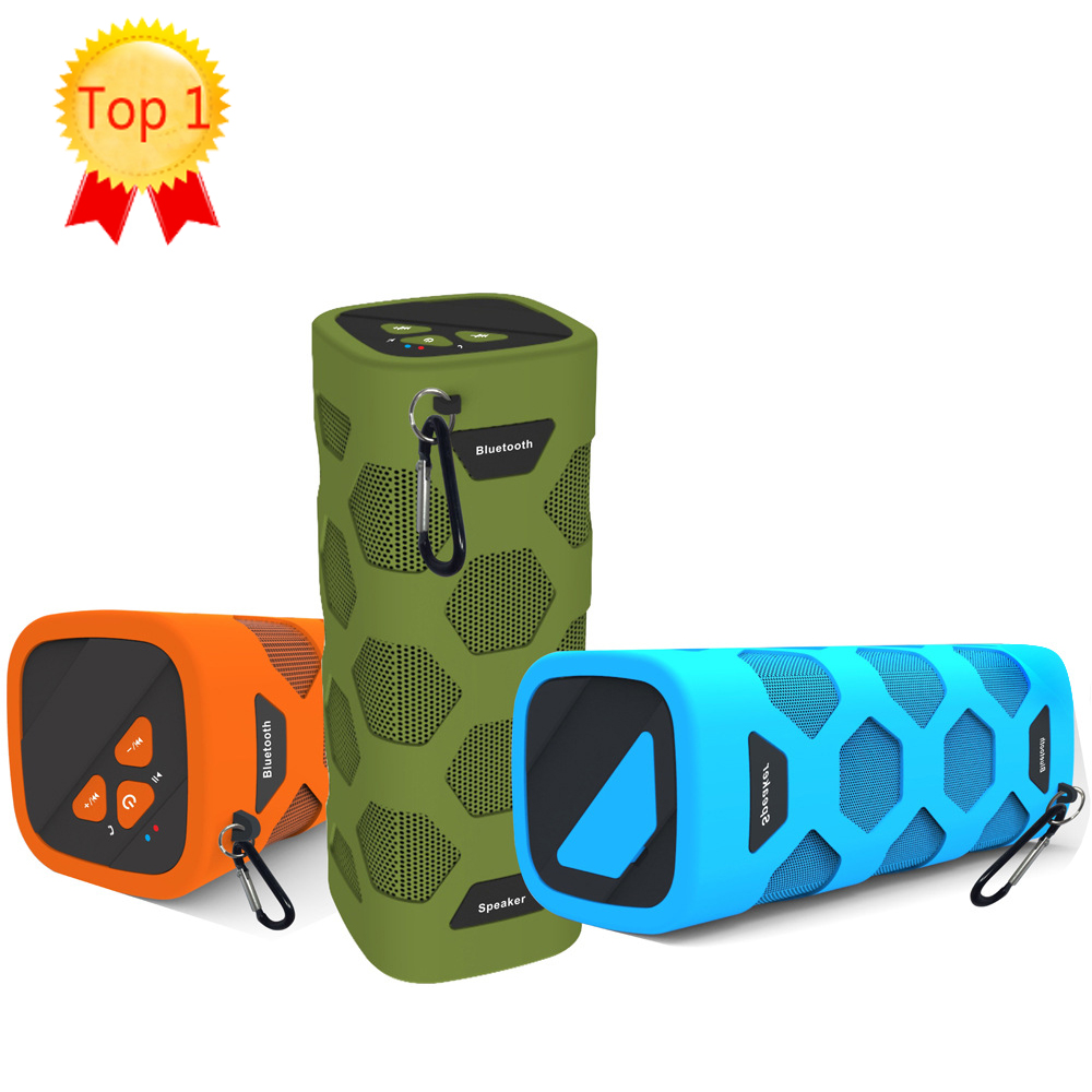 HOT sell colorful Waterproof Bluetooth Speaker Wireless NFC Super Bass Subwoofer Outdoor Sport Sound Box FM