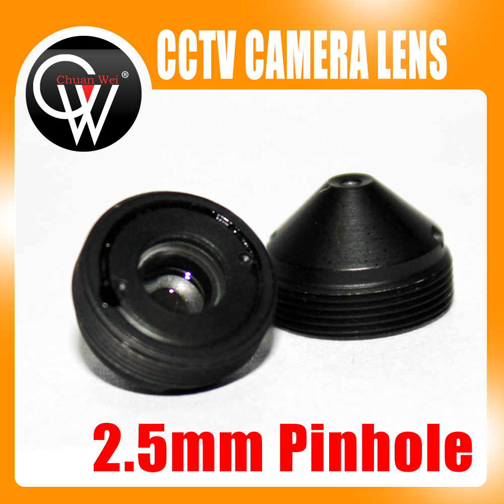 цена на High quality 2.5mm lens Metal Pointed cone CCTV Board Camera Lens For CCTV Security Camera Free Shipping