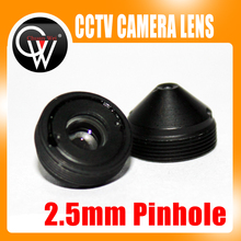 High quality 2.5mm lens Metal Pointed cone CCTV Board Camera Lens For CCTV Security Camera Free Shipping