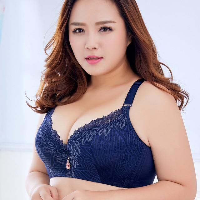 75a0a1b8cf Sexy Full Cup Anti Emptied D E Cup Bra adjustable super push Up bra Thin  Women s Big