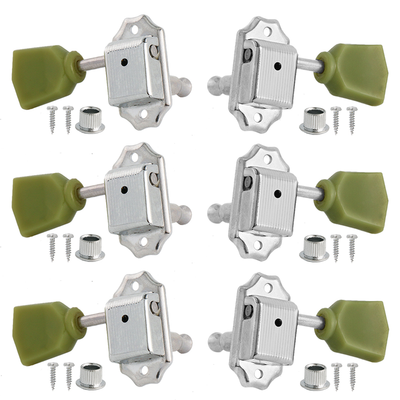 Vintage Deluxe String Tuning Pegs Keys Tuners Machine Heads for Electric Guitar 3x3 Chrome a set of 6 pcs gun color sealed gear string tuners tuning pegs keys machine heads for guitar