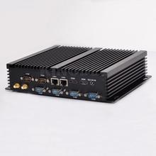 Kingdel Fanless Мини-Промышленной PC Barebone Настольный Компьютер Core i5-4200U Dual LAN HTPC 6 * COM RS232, 4 * USB 3.0, Wi-Fi, Windows10