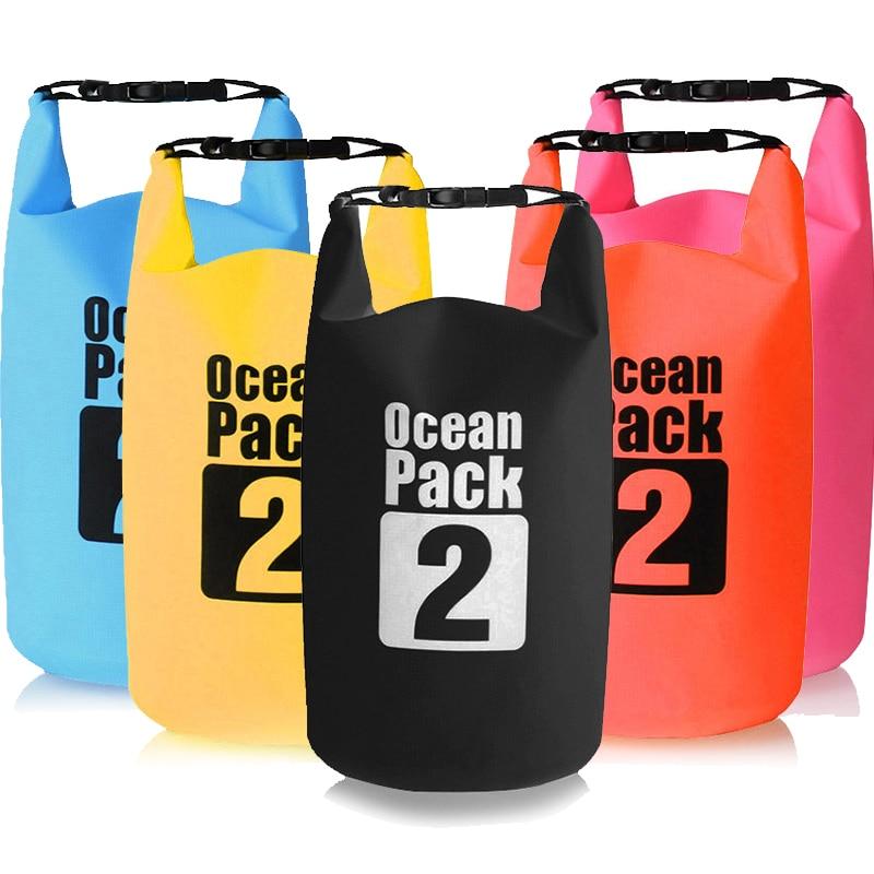 2Л Водонепроницаемый сухой мешок для хранения сумка для плавания открытый Каякинг каноэ река треккинг катание на лодках