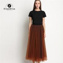 2 Piece Set Women 2017 High Quality Black T Shirt And Long Voile Skirt Sets Designer Brand Women 2 Piece Set
