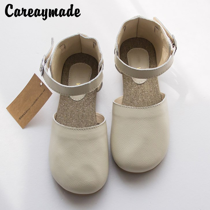 Careaymad-New pure Handmade Genuine leather shoes ,Sen female casual shoes,shallow mouth lacing retro shoes,Black/White huifengazurrcs new pure handmade casual