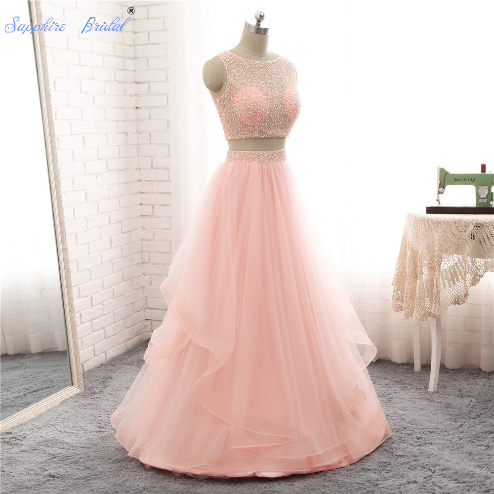 Tienda Online Azul Marino largo Vestidos de baile 2018 con Diamantes ...