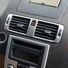 Нержавеющая сталь центральный тире Кондиционер AC Вентиляционное управление рамка Крышка отделка для Volvo C30 S40 V50 C70