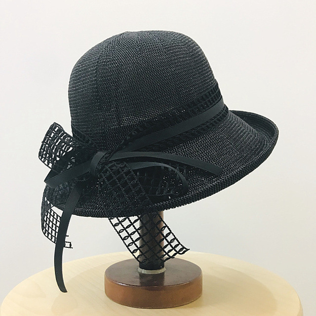 01904xujapan Lace Bowknot Breathable Shade Leisure Lady Bucket Hat Women Fishmen Cap
