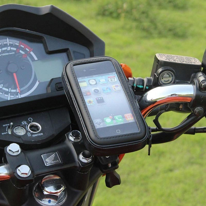 Bicicleta motocicleta soporte para teléfono soporte por teléfono para Moto bolsa de soporte para Iphone X 8 Plus SE S9 bicicleta GPS, GPS titular cubierta impermeable