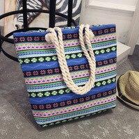 Casual Women Floral Large Capacity Tote Canvas Shoulder Bag Shopping Bag Beach Bags Casual Tote Feminina