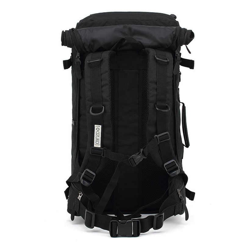 LJL-OZUKO многофункциональный, вместительный рюкзак мужской и женский студенты молния открытый путешествия рюкзак