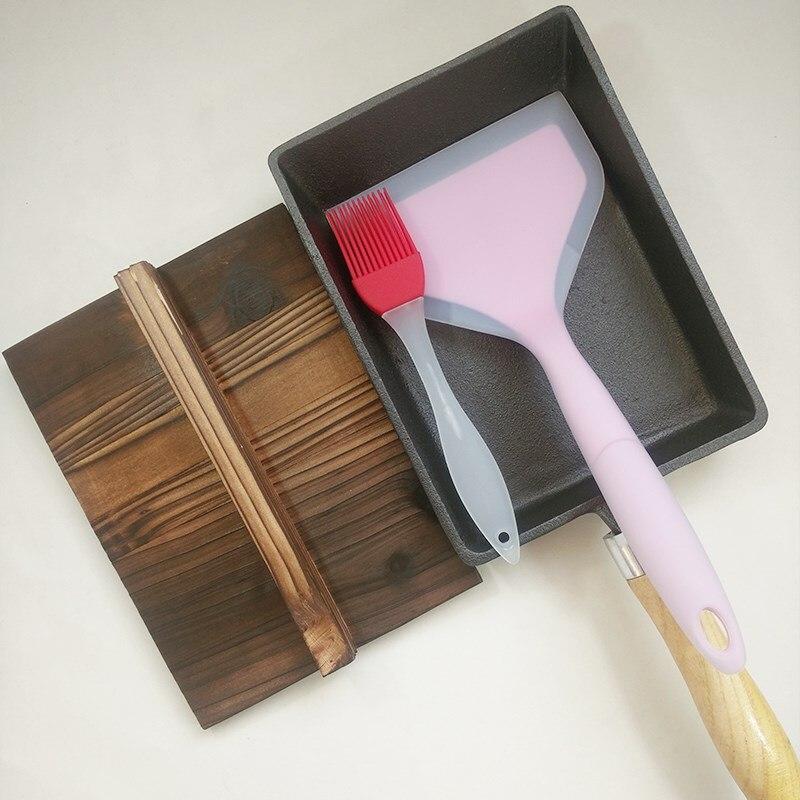 Fonte pot japonais oeufs rouleaux antiadhésif anti-revêtement carré oeufs frits antiadhésif poêle à crêpes épais oeuf brûler KT7181044