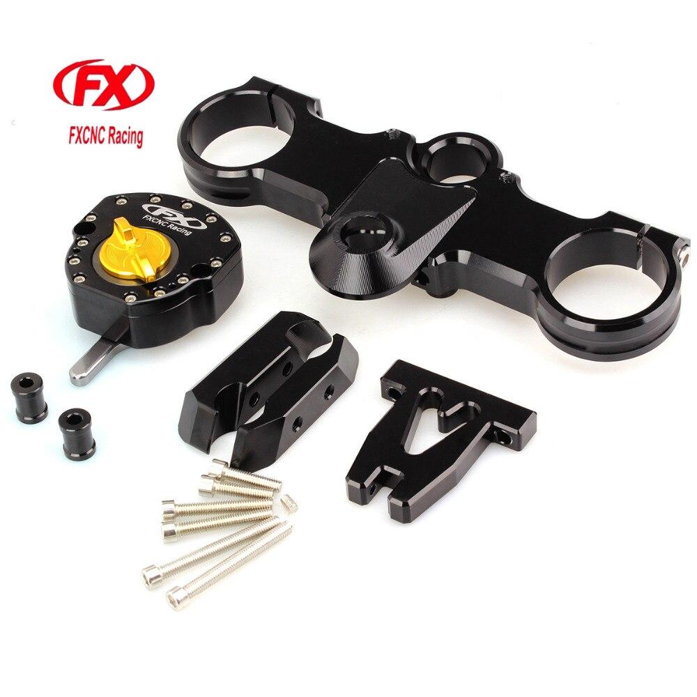 FX CNC Adjustable Motorcycle Steering Damper with Bracket Kits For KTM RC250 RC390 Steering Damper with Bracket Kits motorcycle steering damper