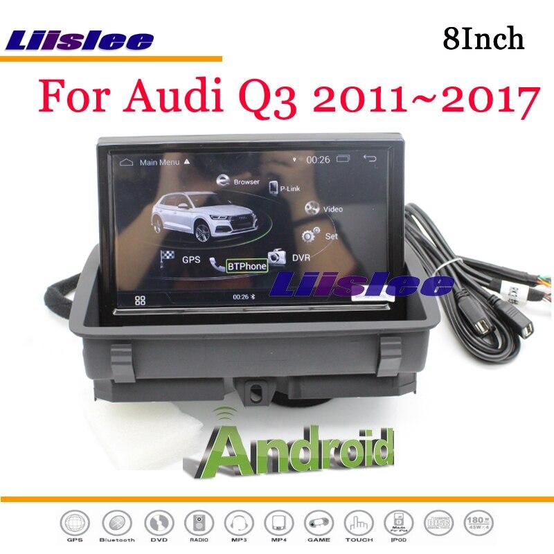 Q3 8U Liislee Multimídia Android Para Audi RS 2011 ~ 2018 Com AUX Stereo Radio DVD Player Ligação Espelho GPS navi Sistema de Navegação