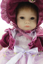 Special Design Bebe Reborn Silicone With Middle Long Dress And Flannelette Made Coat Bebes Bonecas Simulation Doll Toys For Sale