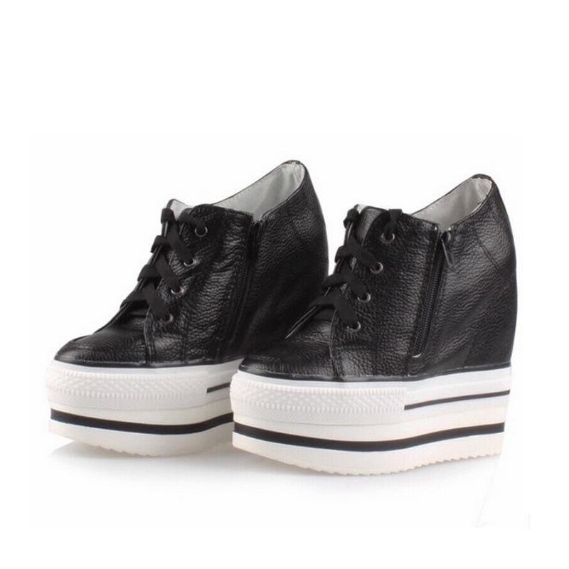 2017 Platform Wedge High heels Women Shoes Lace up Thick Bottom Casual Woman Zapatillas Deportivas Zapatos Mujer Tenis Feminino