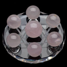 1 Set = 7 Pcs Rose Quartz method crystal healing absorb energy psychic astrology telepathize Scholomance for health care