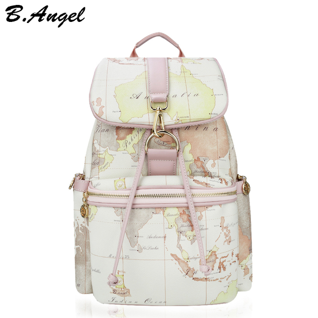 Designer backpack women high quality world map backpack leather designer backpack women high quality world map backpack leather men backpack big travel backpack vintage school gumiabroncs