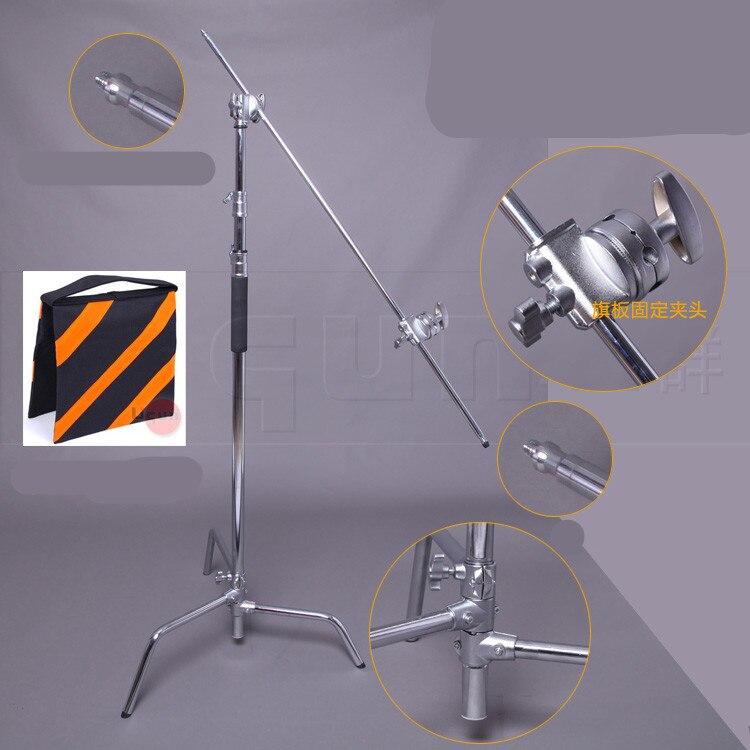 Магия нога из нержавеющей стали C держатель лампы фото большой флаг пластины держатель с расширением крючок двойной Чак CD50